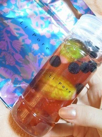「Li pore(リーポール)」のフルーツポンチM。フレッシュフルーツ7種類をミックスした、王道スタイルのフルーツポンチです。シロップにはレモン汁が入っているため甘さ控えめ。