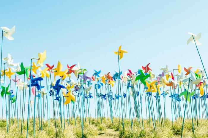 風を受けてくるくると回る風車。この夏は、風車の涼やかな雰囲気を取り入れてみませんか?自分で簡単に作ることができるんですよ。