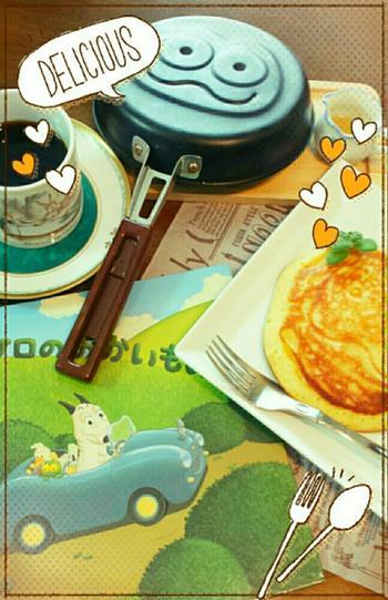 ケロちゃんがホットケーキを焼いたフライパンも購入出来るかも♪  イベント情報は島田ゆかさん公式ページをチェック!