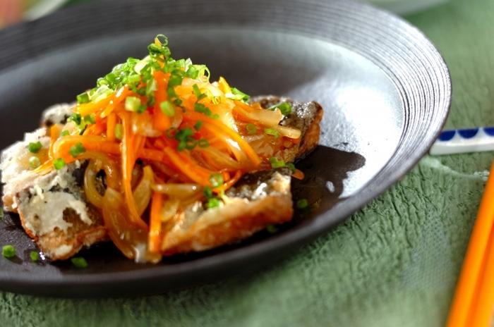 野菜あんかけは、魚だけでなく、豆腐や厚揚げにも合いますよ!
