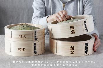照宝のせいろはとにかく種類が豊富! 小さいものは10cmから大きい物は60cmまでのサイズがあり、深さや木の素材も様々。使うお鍋の大きさと作りたい料理に合わせてピッタリの物が選べます。まずはお手持ちのお鍋のサイズを測ってみて!