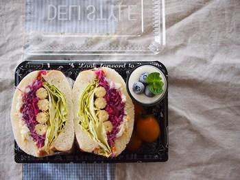 最近話題の萌え断サンドイッチに。手の込んだサンドには、美味しいパンを使って、贅沢な一品にしちゃいましょう。
