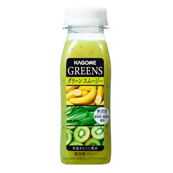 GREENS「グリーンスムージー」 ※香料・保存料・着色料無添加  バナナが入ったとろり食感の「グリーンスムージー」は、バナナのフルーティーな香りと、まるでミキサーで作ったような食感で、毎日飲みたくなる美味しさです♪
