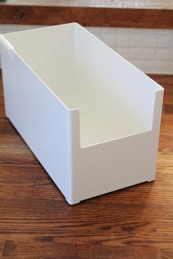 利用したのは、カインズホーム「整理収納小物ケース Skitto スキット」(L・M・スリムの3サイズ)。 ↓↓↓