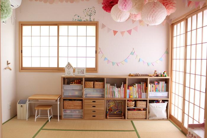 子ども部屋として和室を使うなら楽しい飾りで華やかに。