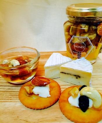 クラッカーやチーズに合わせる食べ方も、とっても美味しそう!