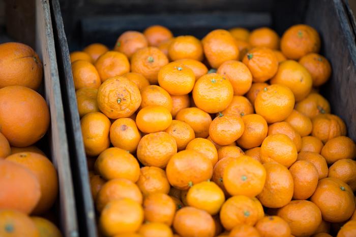鮮やかなオレンジ色が、見ているだけで元気にしてくれるオレンジ。カット面も美しく、思わず齧り付きたくなりますよね!スーパーなどでも手軽に購入できるフルーツだから、手絞りジュースを楽しんでいる方も多いのでは?