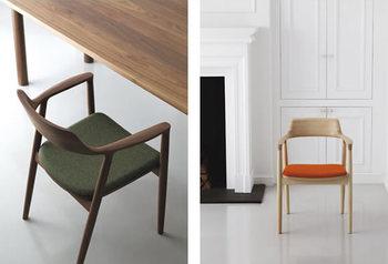 プロダクトデザイナー・深澤直人氏が手がけた、マルニを代表する家具「HIROSHIMA アームチェア」。その普遍的なデザインと、日本独自の木に対する美意識などが世界中から高い評価を受けた名作です。板座の他に張座タイプもあり、木の素材や仕上げのバリエーションが豊富なのも魅力的です。