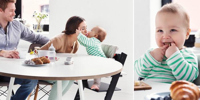 さらに、別売りのベビーセットやクッションを組み合わせて使うことで、生後6ヶ月頃の離乳食開始時期から使えます。 ベビーセットは3歳頃まで活躍しますよ♪