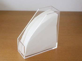 コーヒーフィルターにぴったりのサイズなんです。※写真はハリオの円錐型フィルター