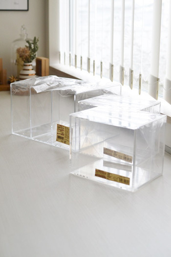 種類も豊富で、組み合わせ次第で様々な収納が出来る「アクリル収納シリーズ」。良品週間など、安く購入できるときにまとめ買い!がおすすめです♪