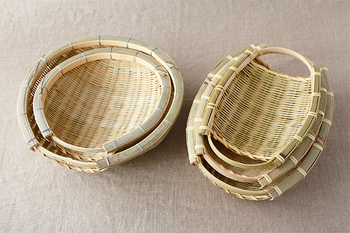 竹製品でもっともよく利用されている竹です。成長が早く、丈夫で加工しやすいことから、プラスチックやステンレス製品が出てくるまでは、この竹が主流でした。