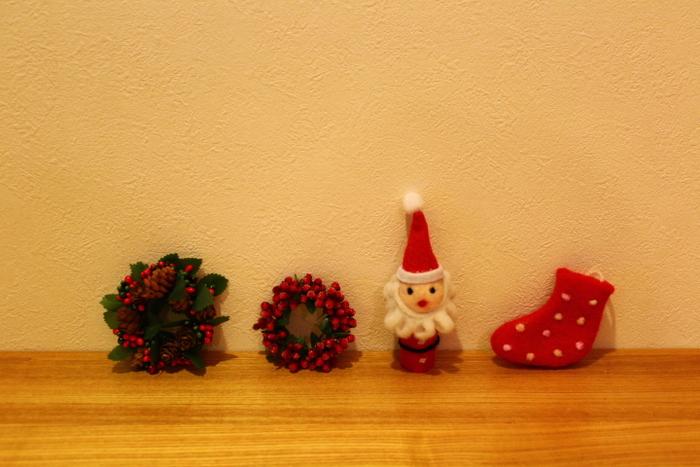 クリスマスには季節限定商品も登場!こんなかわいらしいオーナメントやミニリースも、ナチュラルキッチンで揃います。