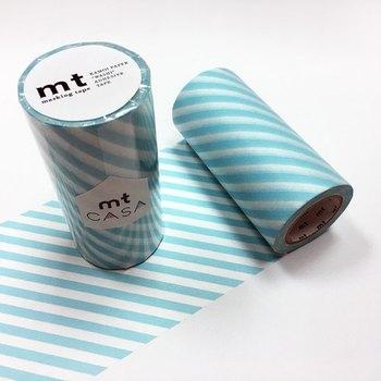 マスキングテープの太い版があるのをご存知でしょうか?いろいろな色や柄があって、何度でも貼り直したり糊のこりなくはがすことができます。