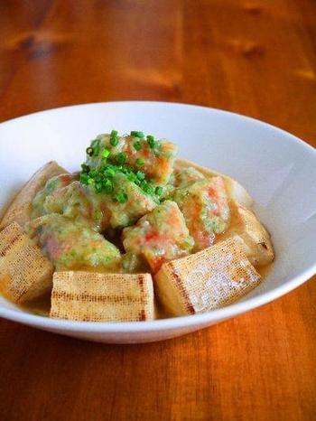 こちらのレシピは焼き豆腐を使っていてとってもヘルシー!カロリーが気になる方や、食べ過ぎが気になる方にもおすすめですね。