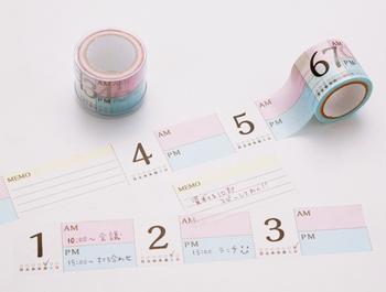 マスキングテープは手帳作りに欠かせませんね。柄や種類も豊富で、思い浮かぶアイディアを形にしてくれそうです。