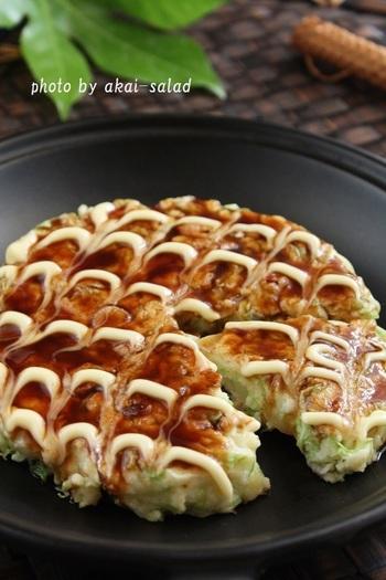 山芋や魚のすり身で出来ているはんぺんを、お好み焼きのつなぎに使ってみませんか。ふわふわっと美味しく焼き上りますよ。