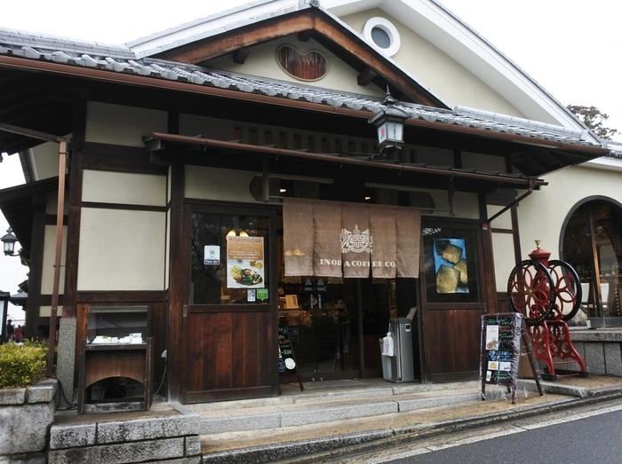 ちなみにこちらは「イノダコーヒー清水店」。 京都ならではの仏閣風の建築物との調和が見事です。