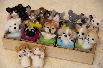 退院後、指人形教室で子どもたちに羊毛フェルトを使った指人形の作り方を教えていた中山さん。 何気なく作ったご自身の愛犬リキをモデルにしたフェルト人形が大評判を呼び、愛犬家の人たちからも注文を受けるようになったのですが…。