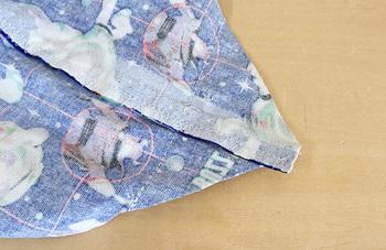 お弁当用の巾着袋には、やっぱりマチは欠かせません。作り方をマスターしておけば、いろいろなバッグ作りにも使えます。