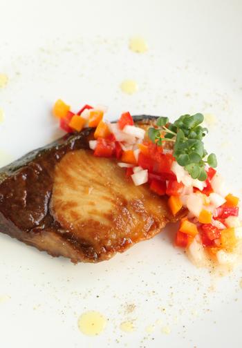 春野菜をたくさん使ったフライパンで出来るブリの照り焼きです!