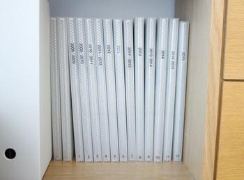 たくさんの写真を収めたい時には、ポリプロピレンのアルバムもおすすめ。コンパクトに美しく収納できます。