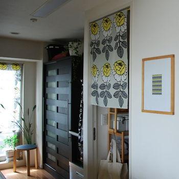 北欧ファブリックでお部屋のワンポイント。カフェカーテンは、素敵なお部屋づくりにもおすすめです。