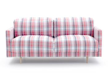 ネルシャツに使用するコットンフランネルのチェック生地を使用したソファ。着慣れた服みたいな家具で心地いいインテリアを楽しめそう♪フランネルのチェック生地のほか、デニムの生地が選べます。