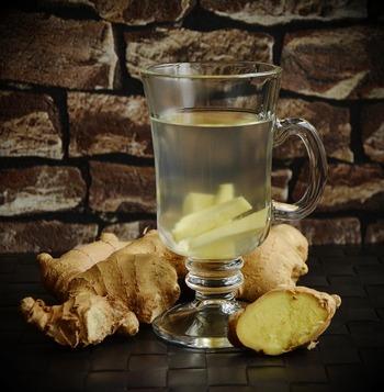 いかにも体に良さそうな生姜酒。漬け込んだ生姜のスライスを3切れほど紅茶に入れると、おいしい生姜紅茶になるそうです。
