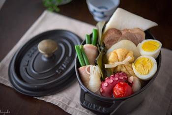 おでんも、ストウブのお鍋で作るとうまみたっぷりに。食卓でも存在感を発揮します。