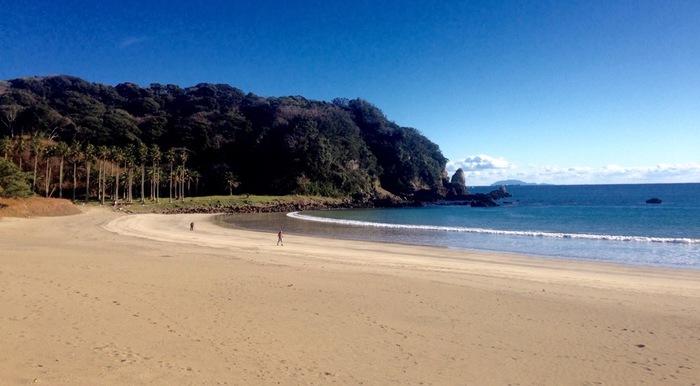 こちらの海岸は弓ヶ浜です。弓ヶ浜は字のごとく、弓のように湾曲になっている浜なので、波もなく遠浅で穏やかです。透明度がとても高いのでシュノーケリングにも人気のスポットです。