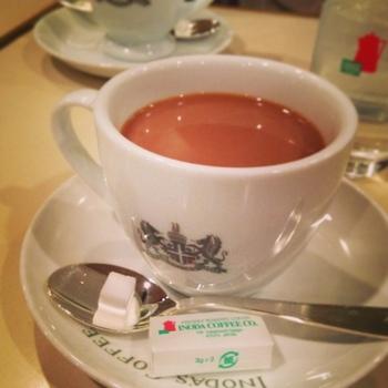 ◆イノダコーヒー八条口店  ポルタ店を先に紹介しましたが、八条口側にもイノダコーヒー店があります。イノダコーヒーは、珈琲だけでなく、スウィーツや食事も美味しく、種類も豊富。朝から晩まで楽しめるワンダフルなお店です。