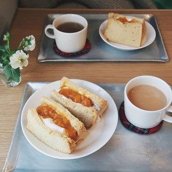 なかしましほさんと言えばシフォンケーキ。 限定でシフォンサンドがfoodmoodに並ぶこともありますよ!