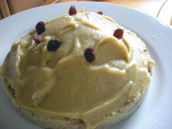 クスクスを台にを使ったモンブラン風デザート!簡単にできておいしいのでオススメですよ♪