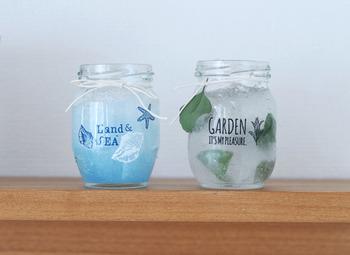 爽やか可愛い消臭剤も、空き瓶で簡単に作れます。