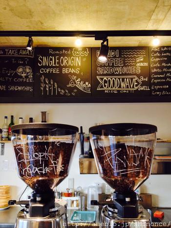 コーヒー豆の種類にもこだわった本格派です!