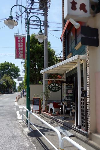 上野毛駅からすぐの立地にある1978年創業の老サンドウィッチ専門店です。