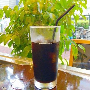 暑い日は、やっぱりアイスコーヒーがいちばんですね!