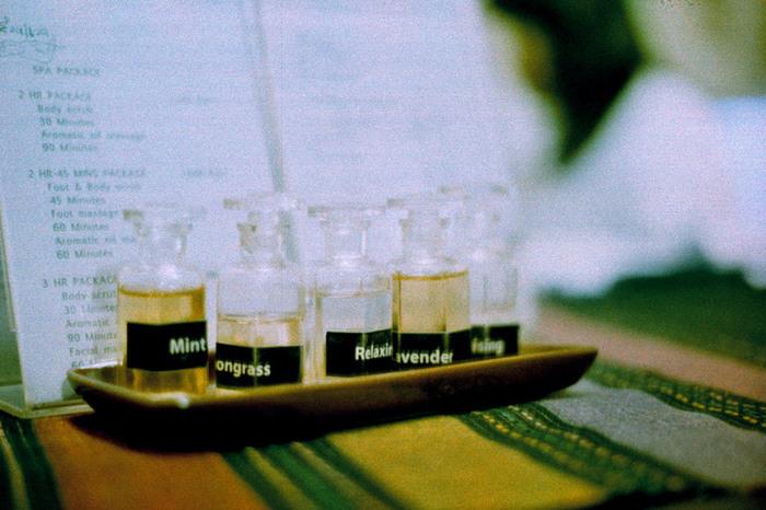 シトロネラやレモングラス、ラベンダーなどnハーブエッセンシャルオイルで防虫スプレーも作っているそう♪