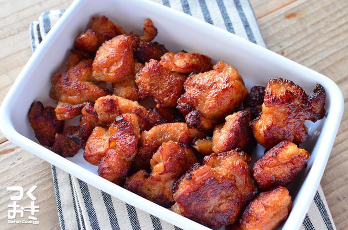 醤油の代わりに味噌を使ったから揚げは、しっかりとした風味でお弁当にぴったり。5日ほど保存もOKなので作りおきにも。