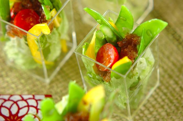 季節の野菜をほおばれば、お口の中に広がる春の香り♪野菜のみずみずしい生命力が、私たちに元気をもたらしてくれます。健やかできれいな明日になりますように、春の恵みをたっぷりとかみしめましょう。
