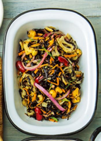 煮物やご飯の他に、最近はサラダや揚げ物などのレシピも人気があるそう。そこで、栄養たっぷりの「ひじき」レシピの紹介です。