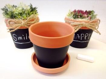 HAPPYにSMILE! 簡単なワードでもしゃれっ気たっぷりの鉢が完成♪