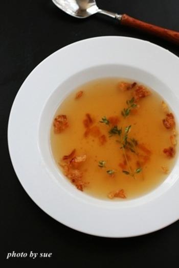 濃縮された野菜の味が染み込んだベジブロススープで朝からゆっくりしませんか?