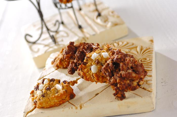塩とチョコレートのワッフルのようなクッキー。サクサクした食感をぜひ味わってみて下さい!