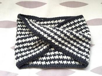千鳥格子もかぎ編みでできちゃいます♪