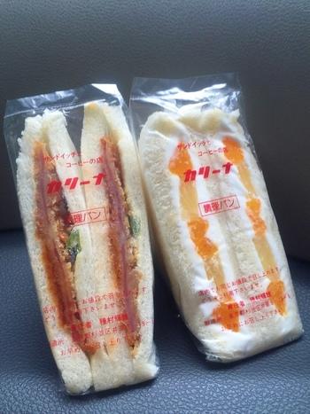 お惣菜系サンドからフルーツサンドまで、種類豊富なサンドイッチが揃っています。ふんわりしっとりとしたパンの虜になる人が多数。