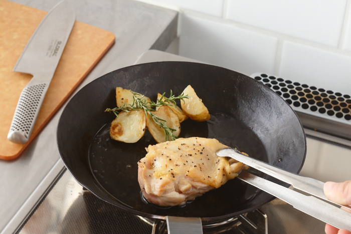 お肉はジューシーに柔らかく焼く事が出来ます。