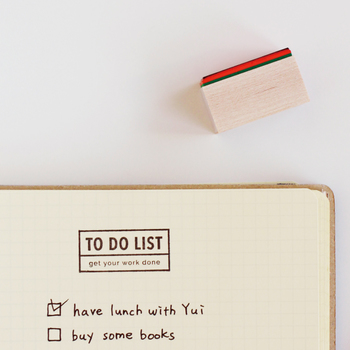 メモ帳や付箋、ノートや手帳などをかわいいTo doリストに変身させちゃうスタンプ。好きな色のインクで、好きな紙で、自由にオリジナルのTo doリストをつくれるなんてワクワクしますよね♪