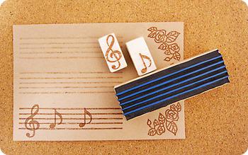 ピアノ講師の方の一筆箋として。 また、お子さんとのレッスン用にも可愛いですね☆